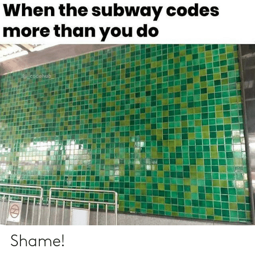 codes: When the subway codes  more than you do  @codehub Shame!