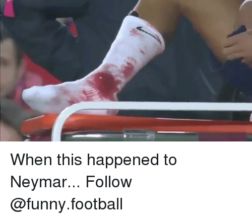 funny football: When this happened to Neymar... Follow @funny.football