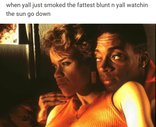 fattest: when yall just smoked the fattest blunt n yall watchin  the sun go down