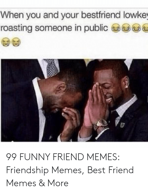 Best Friend, Funny, and Memes: When you and your bestfriend lowke  roasting someone in public 99 FUNNY FRIEND MEMES: Friendship Memes, Best Friend Memes & More