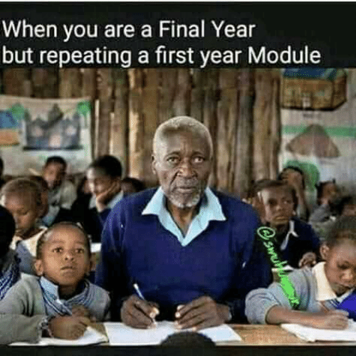 Module, First, and You: When you are a Final Year  but repeating a first year Module