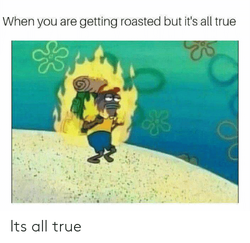 Its All True: When you are getting roasted but it's all true Its all true