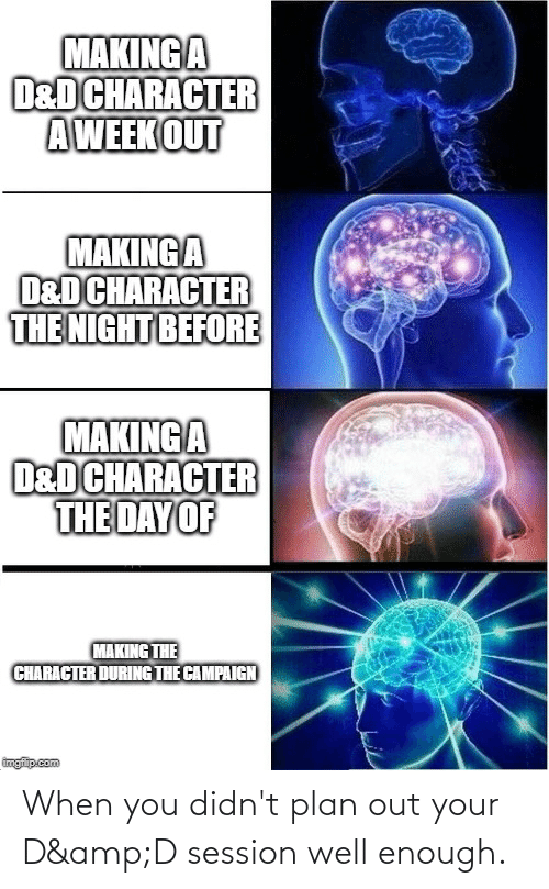 Plan: When you didn't plan out your D&D session well enough.