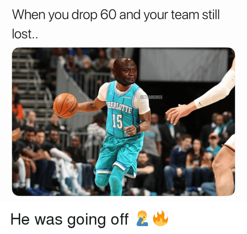 Basketball, Nba, and Sports: When you drop 60 and your team still  lost  NBAMEMES  15 He was going off 🤦♂️🔥