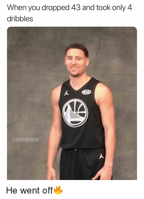 Basketball, Nba, and Sports: When you dropped 43 and took only 4  dribbles  @NBAMEMES He went off🔥