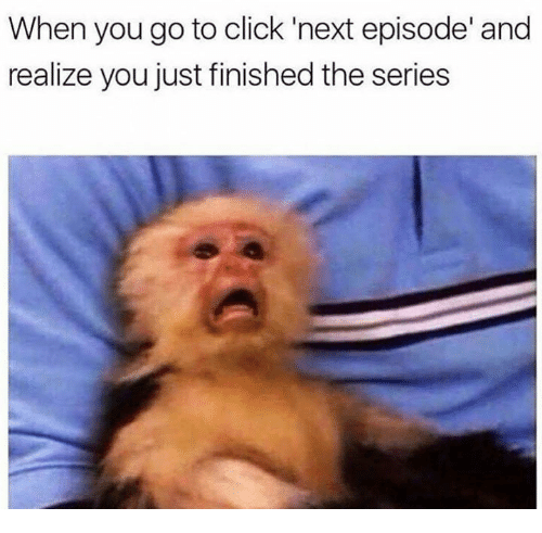 Click, Next, and You: When you go to click 'next episode' and  realize you just finished the series