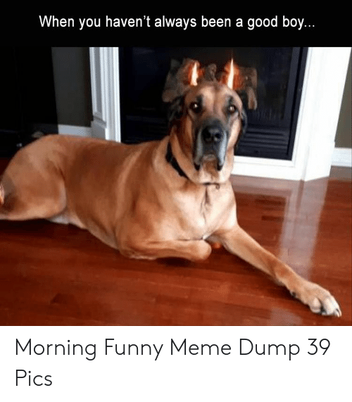 When You Havent: When you haven't always been a good boy. Morning Funny Meme Dump 39 Pics