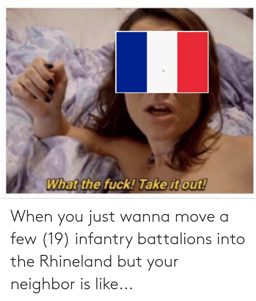 move: When you just wanna move a few (19) infantry battalions into the Rhineland but your neighbor is like...