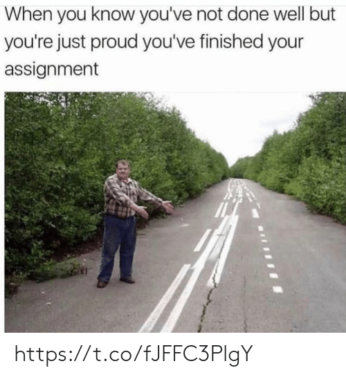 Memes, Proud, and 🤖: When you know you've not done well but  you're just proud you've finished your  assignment https://t.co/fJFFC3PlgY