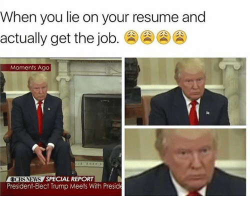 🅱 25+ Best Memes About Lie on Your Resume | Lie on Your Resume Memes