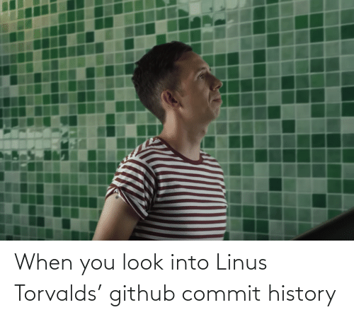 Commit: When you look into Linus Torvalds' github commit history