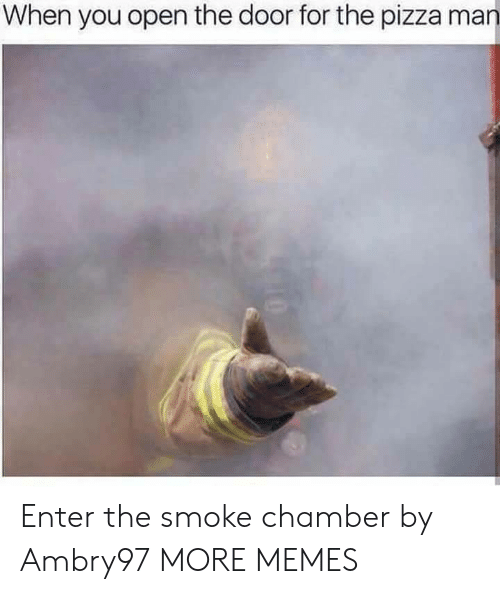 Dank, Memes, and Pizza: When you open the door for the pizza man Enter the smoke chamber by Ambry97 MORE MEMES