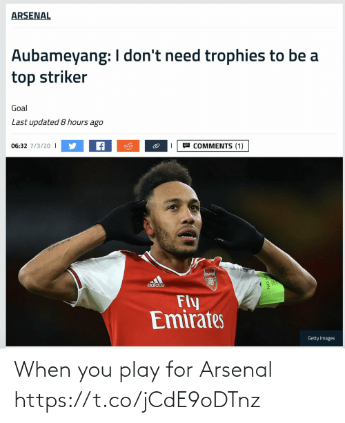 play: When you play for Arsenal https://t.co/jCdE9oDTnz