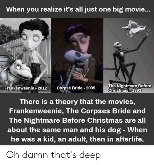Nightmare Before Christmas Memes.When You Realize It S All Just One Big Movie Frankenweee