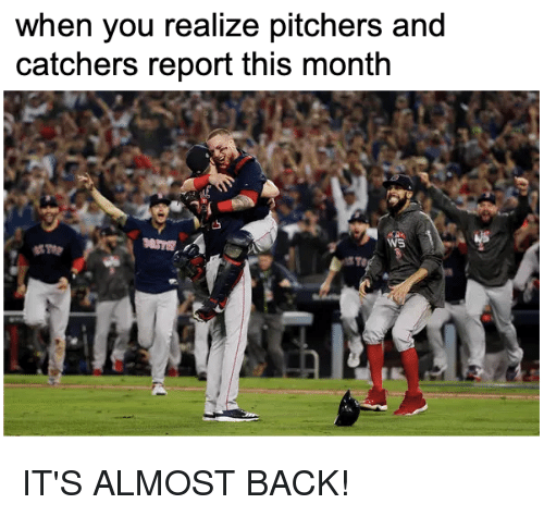 Mlb, Back, and You: when you realize pitchers and  catchers report this month IT'S ALMOST BACK!