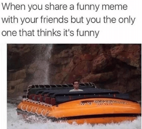 Friends, Funny, and Meme: When you share a funny meme  with your friends but you the only  one that thinks it's funny