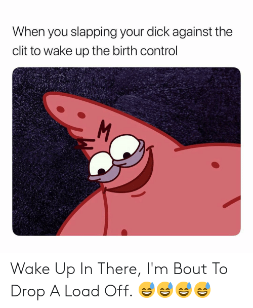 Control, Dick, and Birth Control: When you slapping your dick against the  clit to wake up the birth control Wake Up In There, I'm Bout To Drop A Load Off. 😅😅😅😅