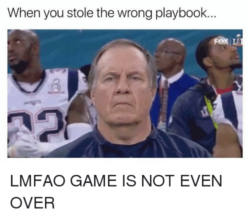 Funny, Playbook, and Stole: When you stole the wrong playbook.  FOX LA LMFAO GAME IS NOT EVEN OVER