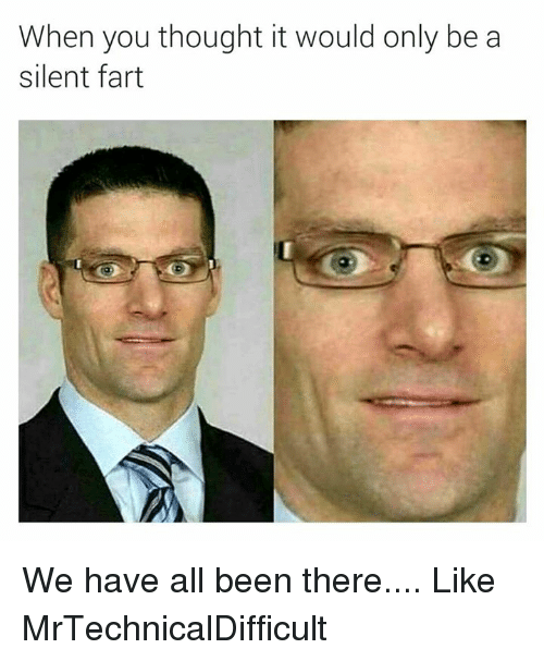 Dank, 🤖, and Fart: When you thought it would only be a  silent fart We have all been there....  Like MrTechnicalDifficult