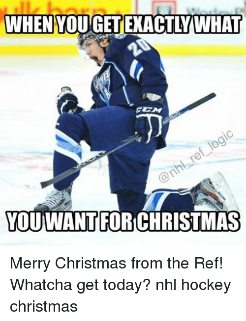 The Ref: WHEN YOUGETEXACTLY WHAT  YOU WANT FOR CHRISTMAS Merry Christmas from the Ref! Whatcha get today? nhl hockey christmas