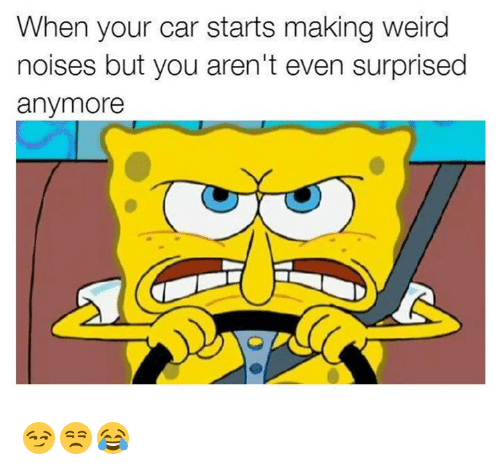 Carli: When your car starts making weird  noises but you aren't even surprised  anymore 😏😒😂
