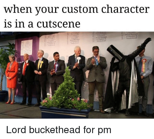 Lord Buckethead: when your custom character  is in a cutscene  Maidenhend  ac  Twit