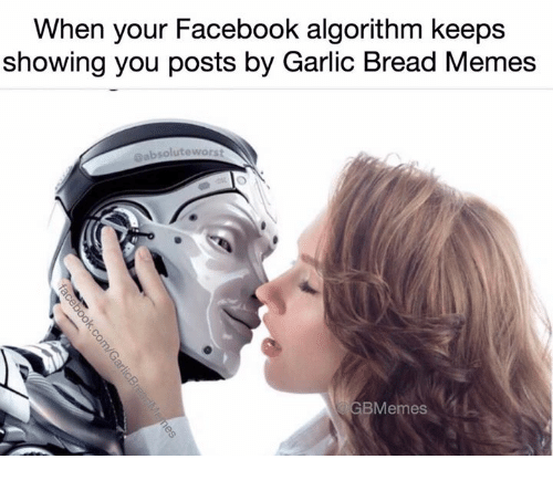 Facebook, Memes, and Garlic Bread: When your Facebook algorithm keeps  showing you posts by Garlic Bread Memes  eabsolute worst  Memes
