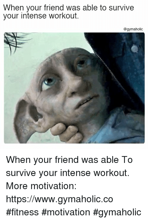 Fitness, Friend, and Motivation: When your friend was able to survive  your intense workout.  @gymaholic When your friend was able  To survive your intense workout.  More motivation: https://www.gymaholic.co  #fitness #motivation #gymaholic