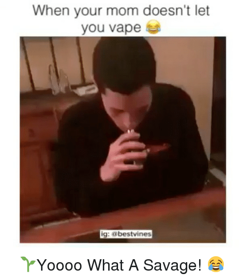 You Vape: When your mom doesn't let  you vape  ig: abestvines ⠀ 🌱Yoooo What A Savage! 😂