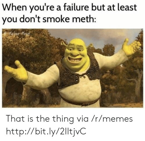 Memes, Http, and Failure: When you're a failure but at least  you don't smoke meth: That is the thing via /r/memes http://bit.ly/2IltjvC