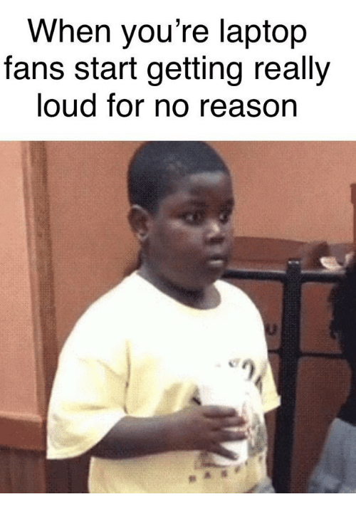 Laptop, Reason, and For: When you're laptop  fans start getting really  loud for no reason