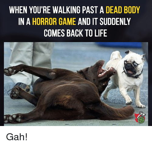 horror games: WHEN YOU'RE WALKING PAST A DEAD BODY  IN A HORROR GAME AND IT SUDDENLY  COMES BACK TO LIFE Gah!
