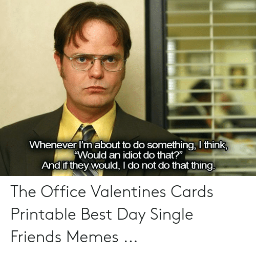 picture about Dwight Schrute Id Badge Printable named 🅱️ 25+ Most straightforward Memes In excess of the Office environment Valentines the Business office