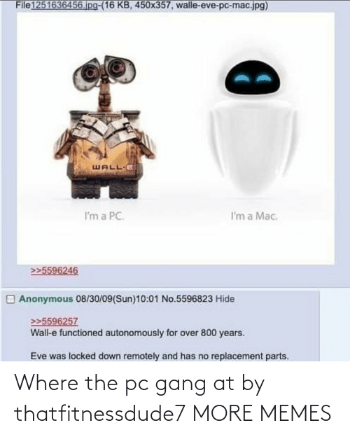 Where: Where the pc gang at by thatfitnessdude7 MORE MEMES