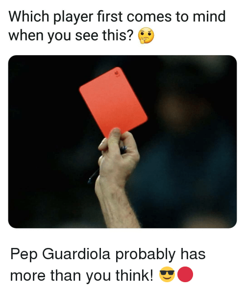 pep guardiola: Which player first comes to mind  when you see this? Pep Guardiola probably has more than you think! 😎🔴