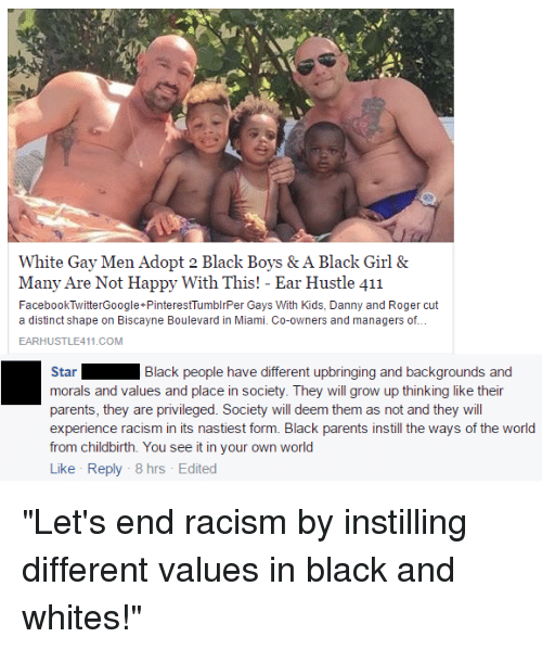 Growing Up Memes And Parents White Gay Men Adopt 2 Black Boys