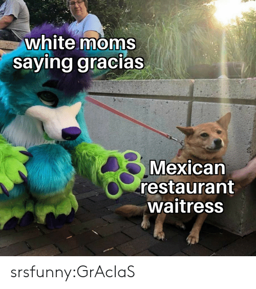 Moms, Tumblr, and Blog: white moms  saying gracias  Mexican  restaurant  waitress srsfunny:GrAcIaS