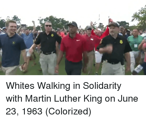 Martin Luther King: Whites Walking in Solidarity with Martin Luther King on June 23, 1963 (Colorized)