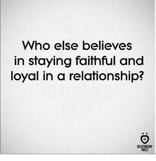 staying loyal in a relationship