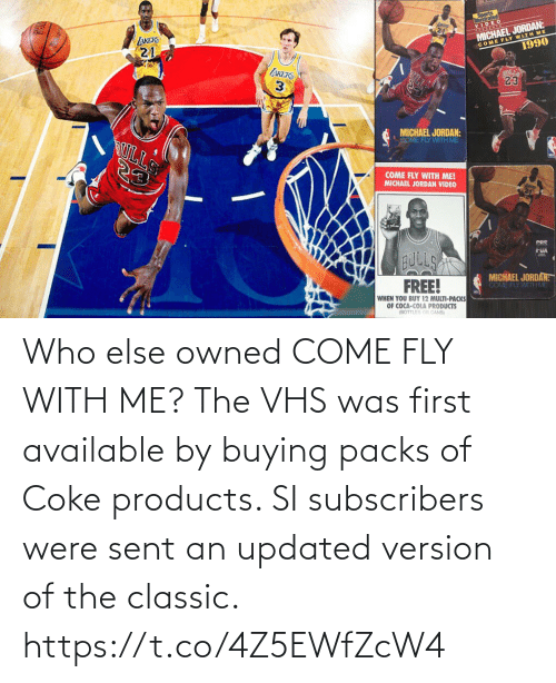 vhs: Who else owned COME FLY WITH ME?   The VHS was first available by buying packs of Coke products.   SI subscribers were sent an updated version of the classic. https://t.co/4Z5EWfZcW4