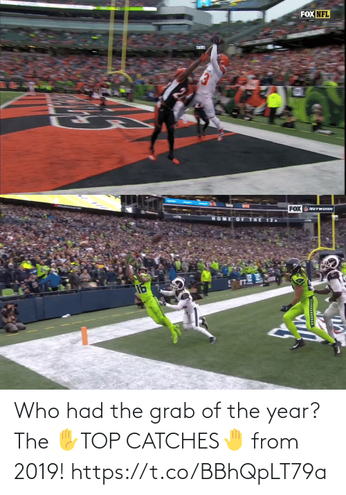 grab: Who had the grab of the year?   The ✋TOP CATCHES🤚  from 2019! https://t.co/BBhQpLT79a