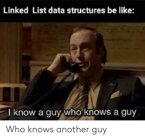 who: Who knows another guy
