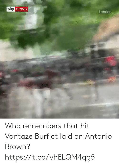 hit: Who remembers that hit Vontaze Burfict laid on Antonio Brown? https://t.co/vhELQM4qg5