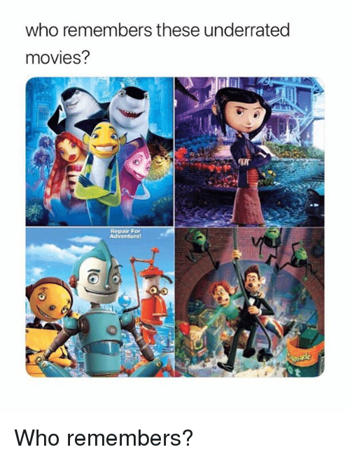 Memes, Movies, and 🤖: who remembers these underrated  movies?  Repair For  Adventure! Who remembers?