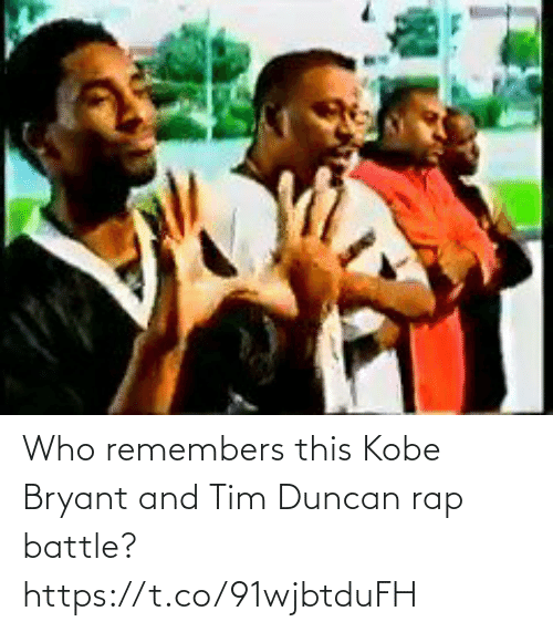 Rap: Who remembers this Kobe Bryant and Tim Duncan rap battle? https://t.co/91wjbtduFH