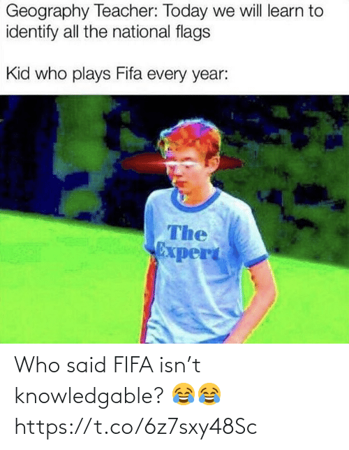 Fifa, Soccer, and Who: Who said FIFA isn't knowledgable? 😂😂 https://t.co/6z7sxy48Sc