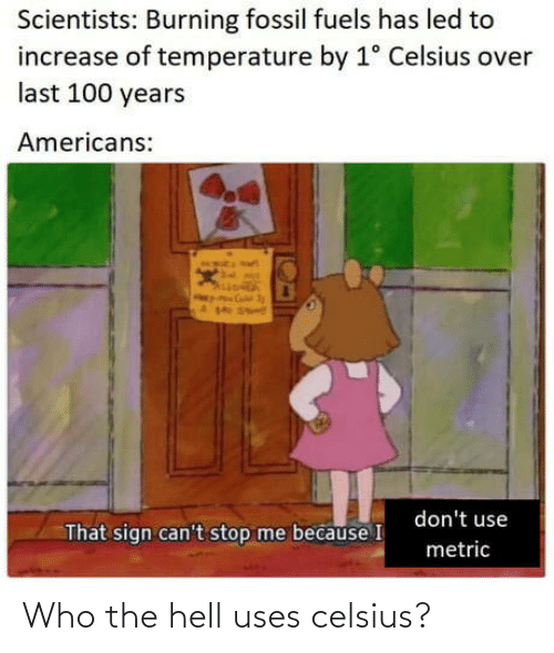 The Hell: Who the hell uses celsius?