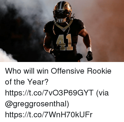 Memes, 🤖, and Who: Who will win Offensive Rookie of the Year? https://t.co/7vO3P69GYT (via @greggrosenthal) https://t.co/7WnH70kUFr