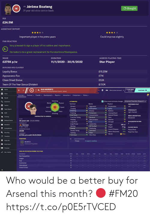 ballmemes.com: Who would be a better buy for Arsenal this month? 🔴 #FM20 https://t.co/p0E5rTVCED