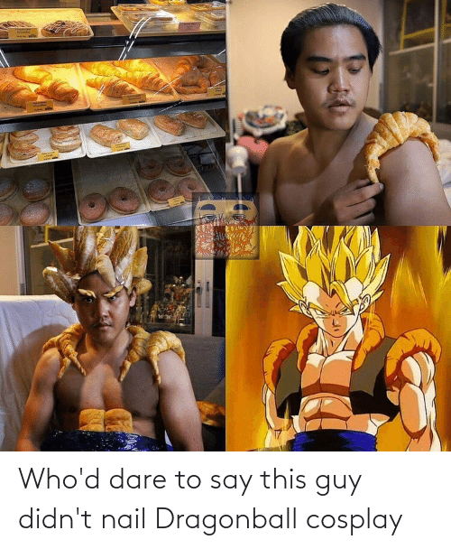 dare: Who'd dare to say this guy didn't nail Dragonball cosplay